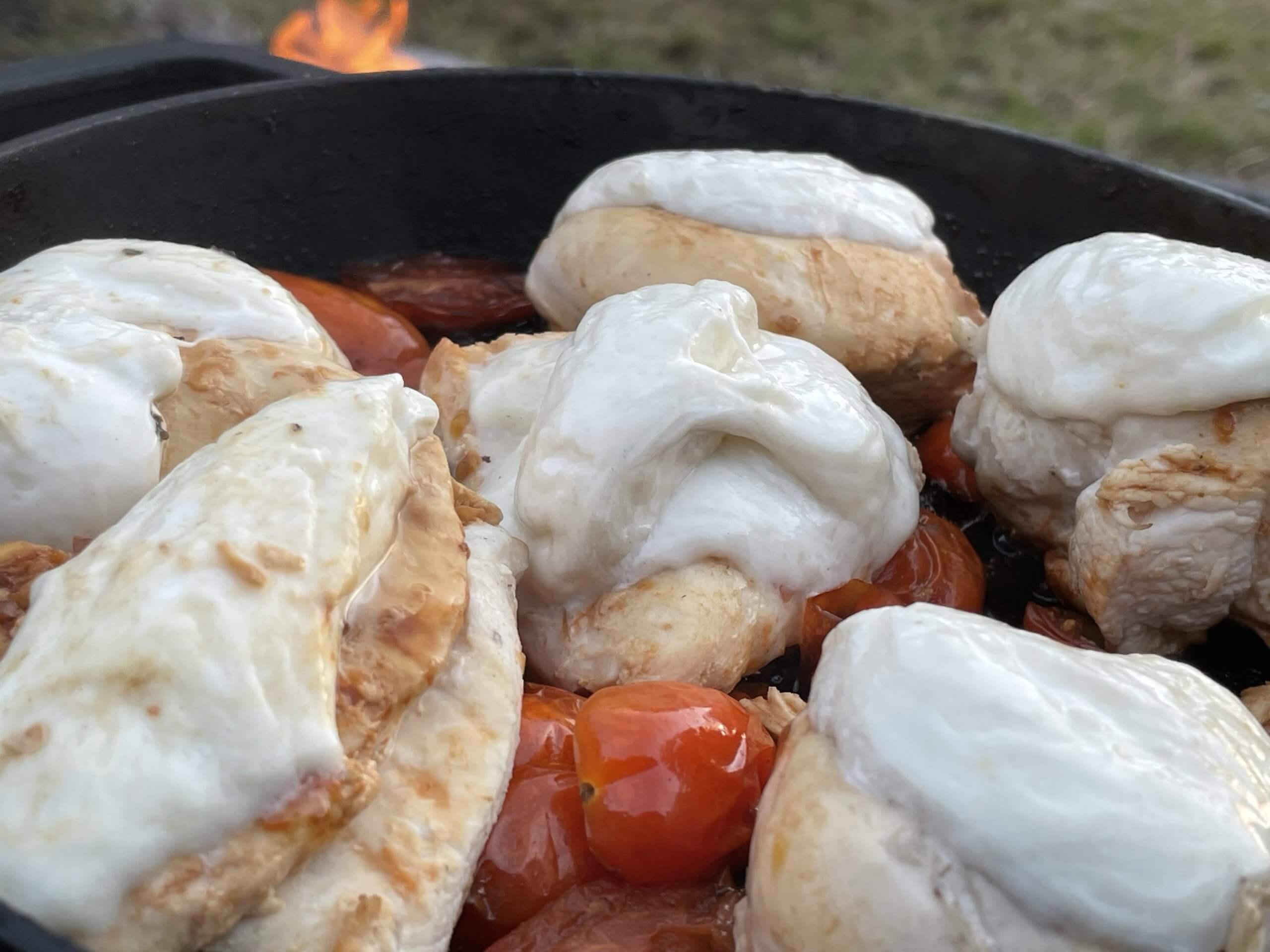 Campfire Chicken Caprese